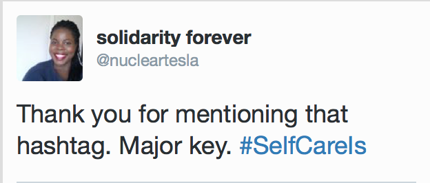 #SelfCareIs